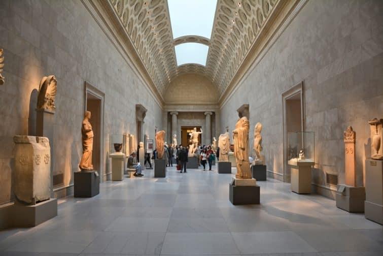 Intérieur du Metropolitan Museum of Art, New York