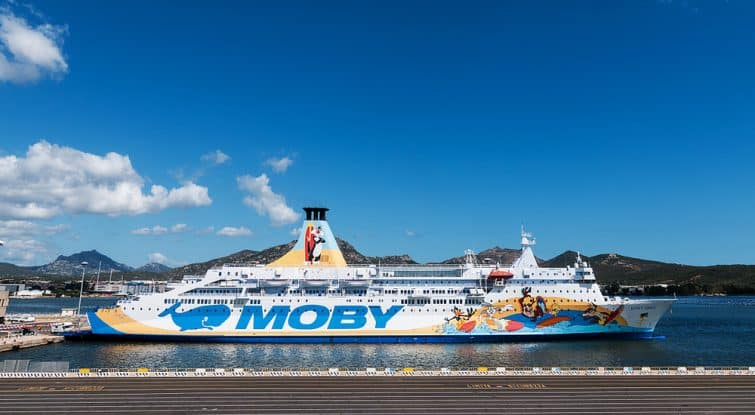 Ferry de la compagnie Moby, Sardaigne