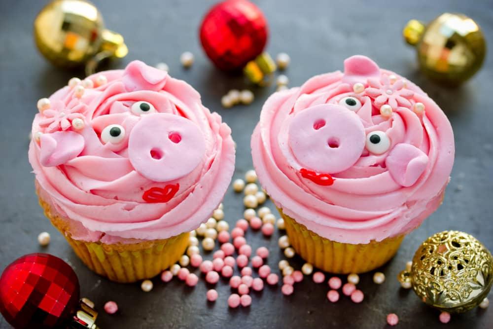 Des muffins à l'effigie de cochons