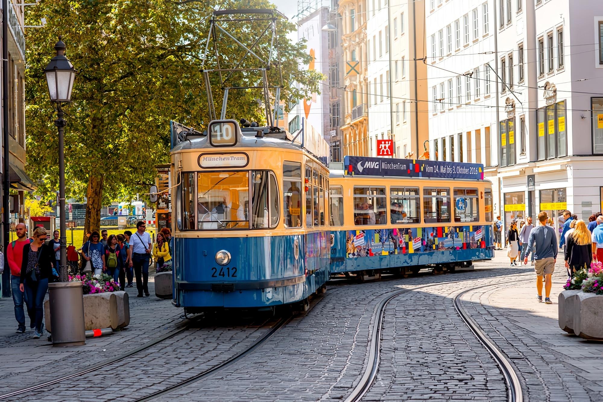 Vieux tram de Munich