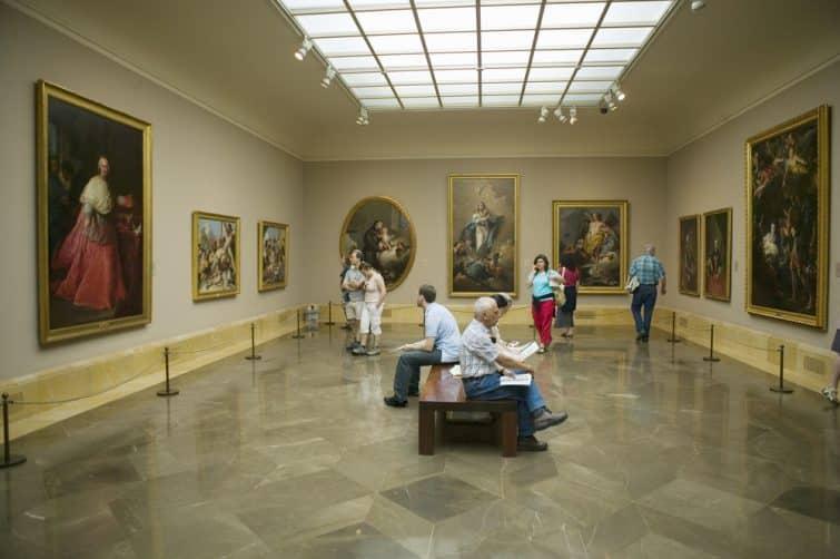 Galerie d'exposition au musée du Prado, Madrid