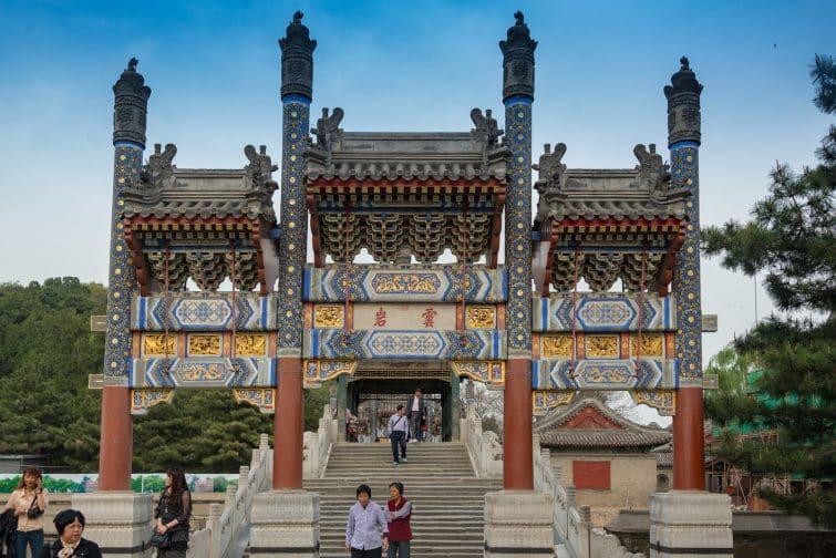 La porte du Palais d'été de Pékin