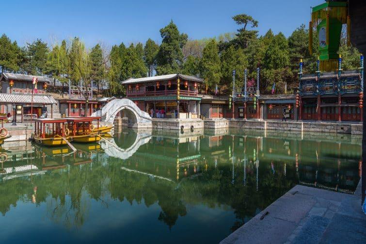 Dans les jardins du Palais d'été de Pékin