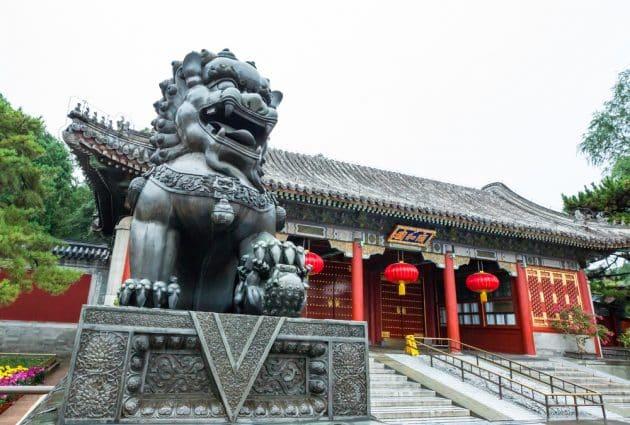 Statue du Lion, Palais d'été de Pékin