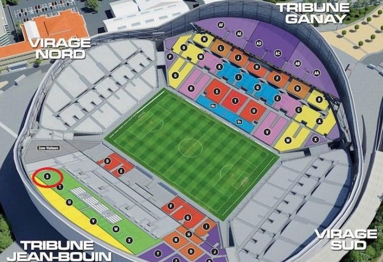 Plan du Vélodrome