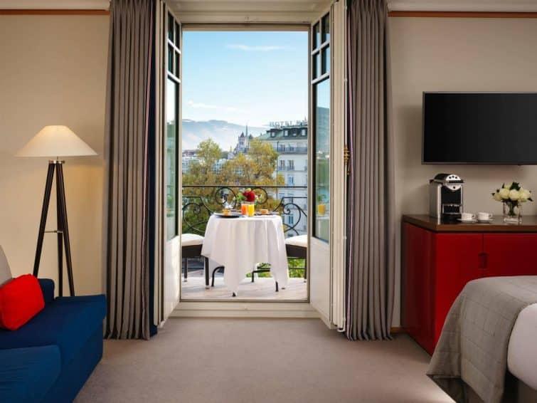Chambre avec vue au Richemond Hôtel, Genève