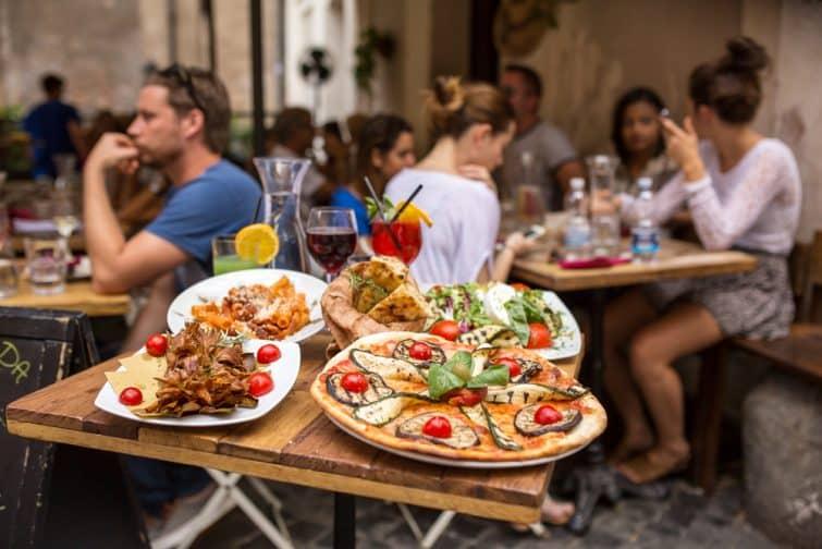 Plats typique de la gastronomie romaine