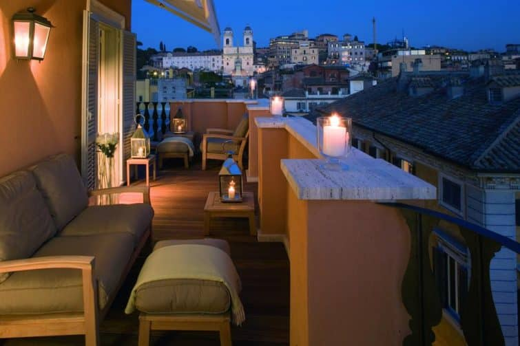 La terrasse du Portrait Roma
