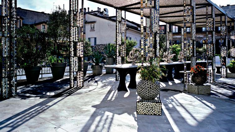 Rooftop roof garden 10 Corso Como, Milan