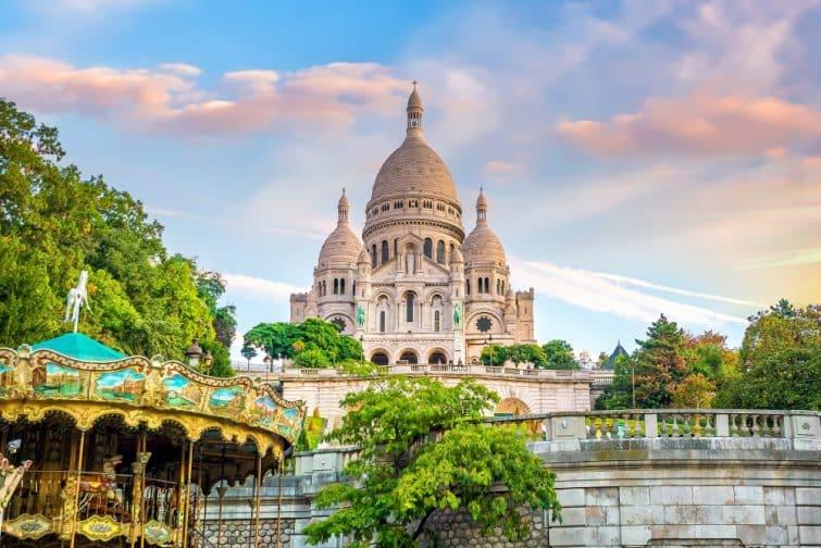 Cathédrale du Sacré-Coeur sur la Butte Montmartre à Paris
