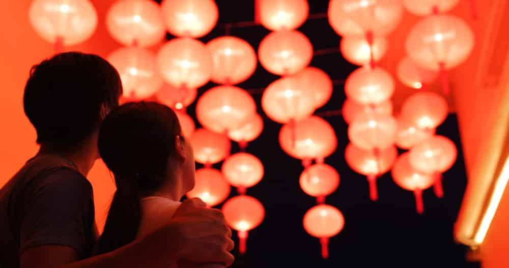 Deux amoureux lors de Qixi
