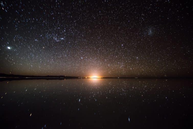 Le Salar d'Uyuni de nuit