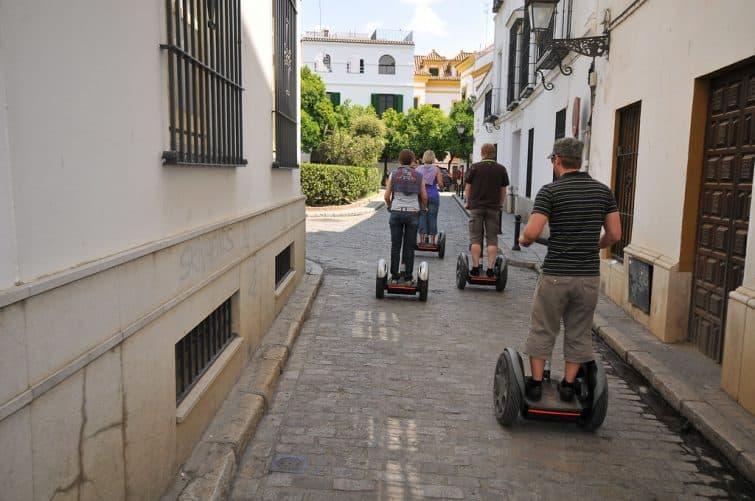 Découvrir les rues de Séville en segway