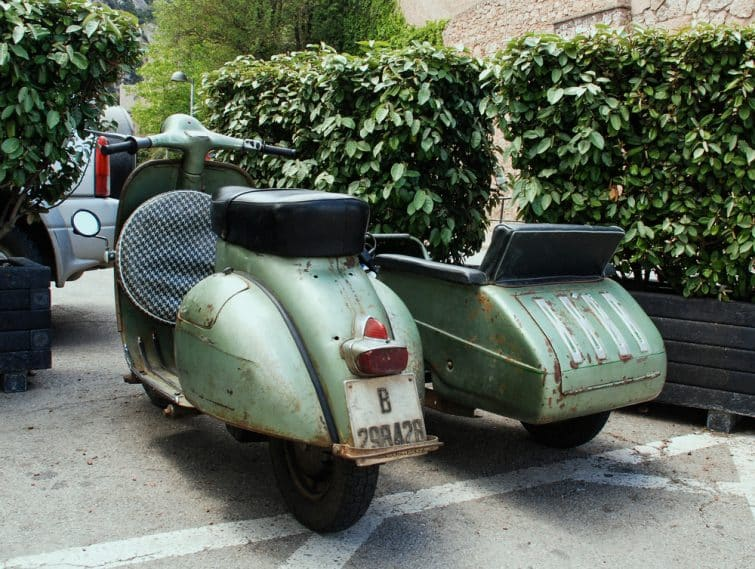 Sidecar vintage à Barcelone