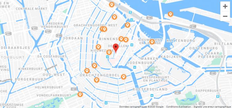 Carte des consignes à bagages Stasher à Amsterdam