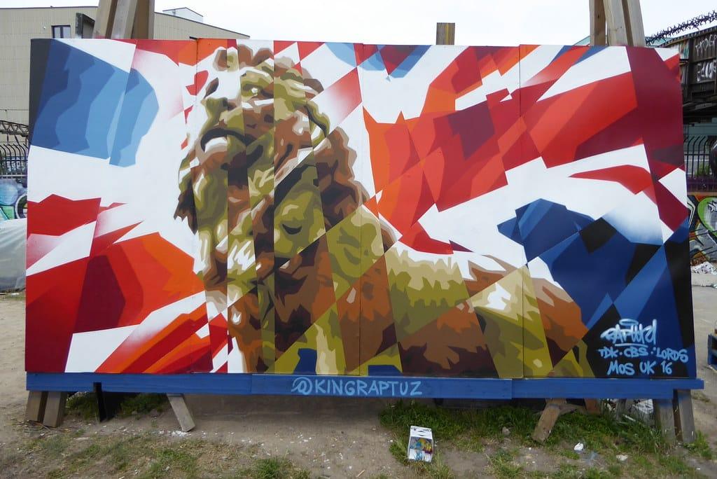Oeuvre street-art lors du Meeting of Styles 2017