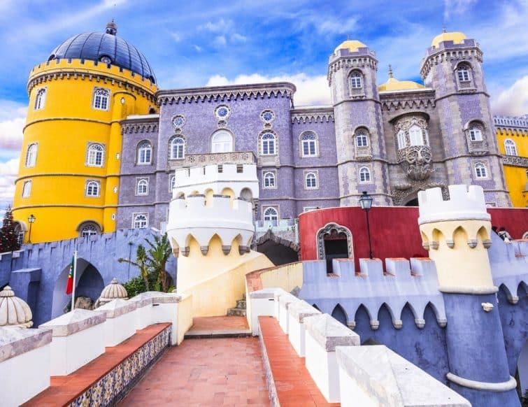 Entrée du palais de Pena, l'un des plus beaux palais d'Europa à Sintra