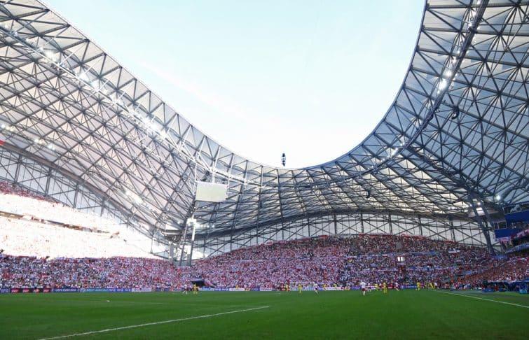 Le Vélodrome plein pendant un match de l'OM