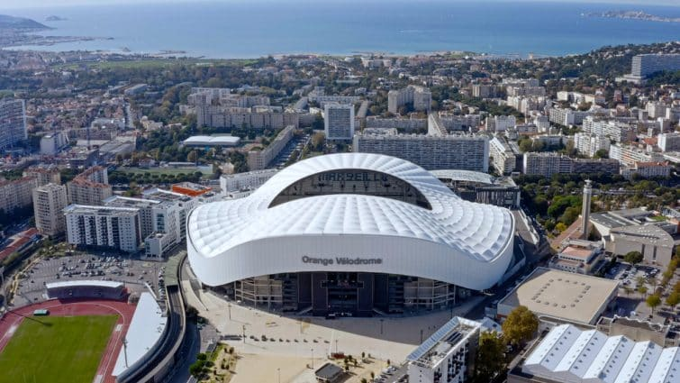 Vue aérienne de l'Orange Vélodrome