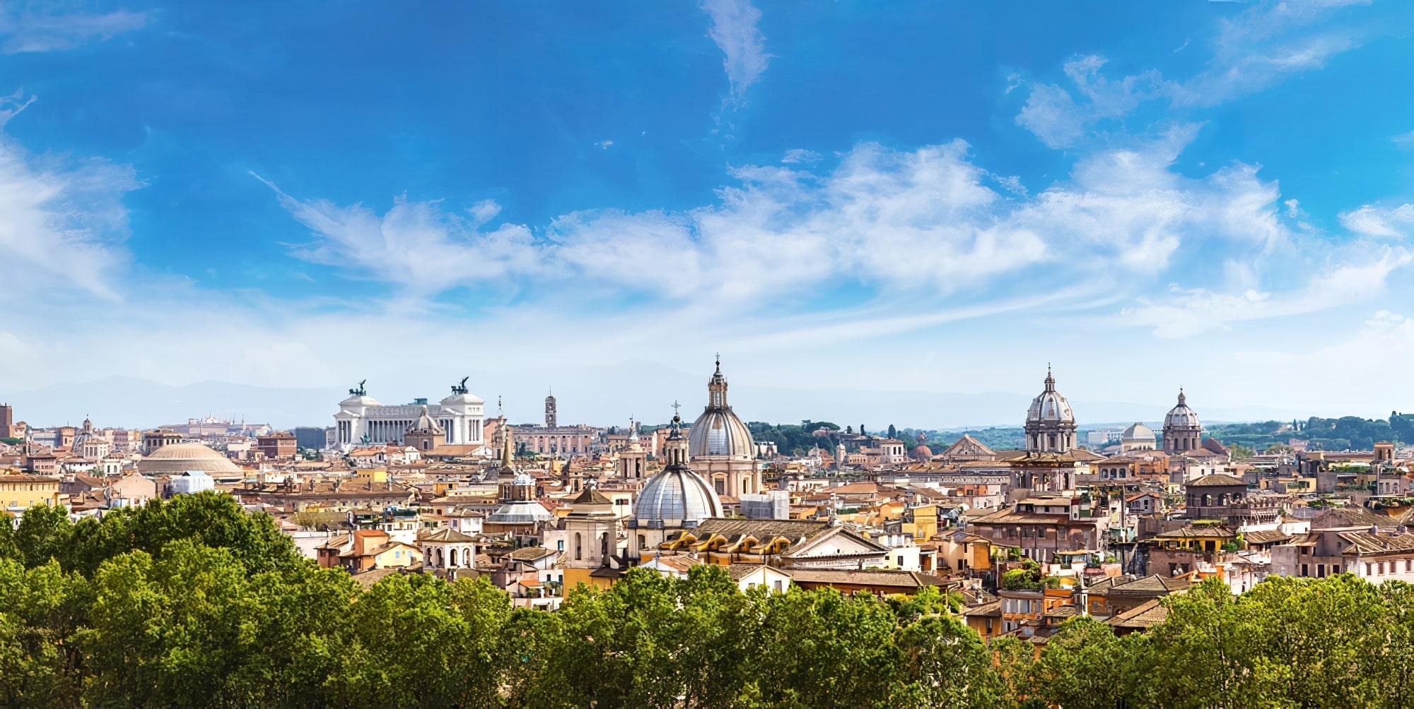 Vue panoramique sur Rome