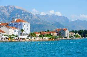Vue sur Tivat, Montenegro