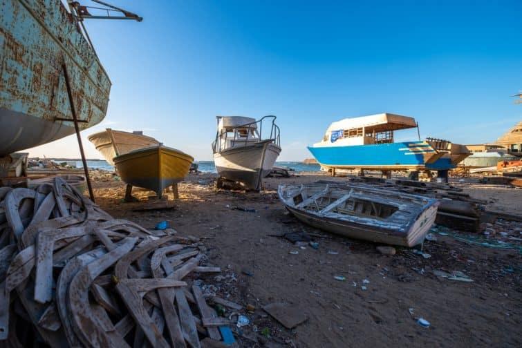 Bateaux de pêche, Anfushi, port d'Alexandrie