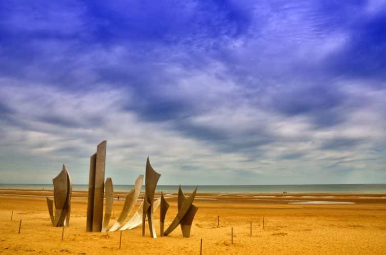 La plage d'Omaha était l'une des zones de débarquement de l'invasion de la Normandie pendant la Seconde Guerre mondiale