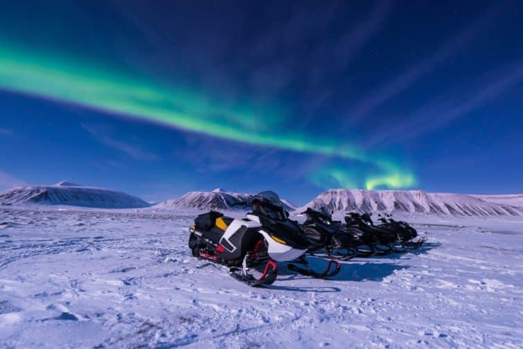 Les lumières arctiques polaires du Nord