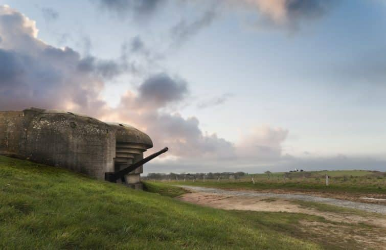 Old german bunker in Normandy, Gold beach
