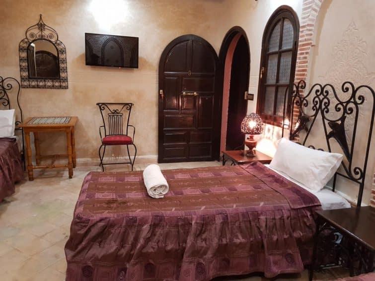 Chambre à l'hôtel Salsabil, Marrakech