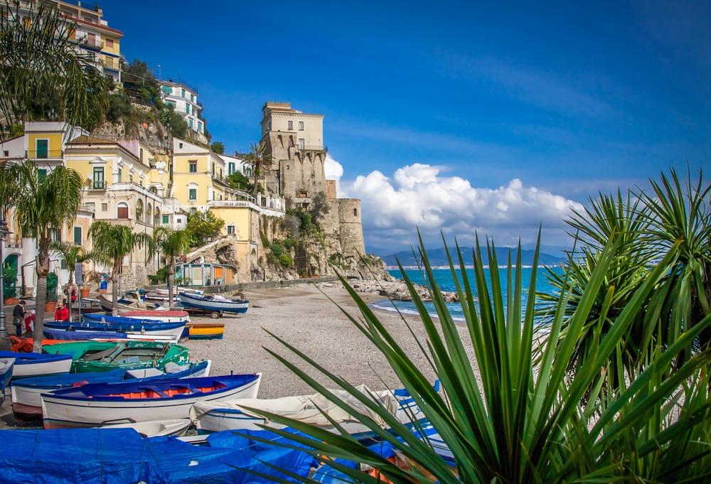 Plage Spiaggia Lannio, Cetara, Italie