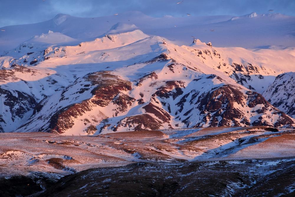 Le volcan Eyjafjallajökull, Islande