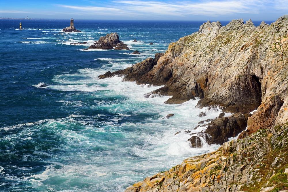 La pointe du Raz, alias Bout du Monde, au Cap Sizun