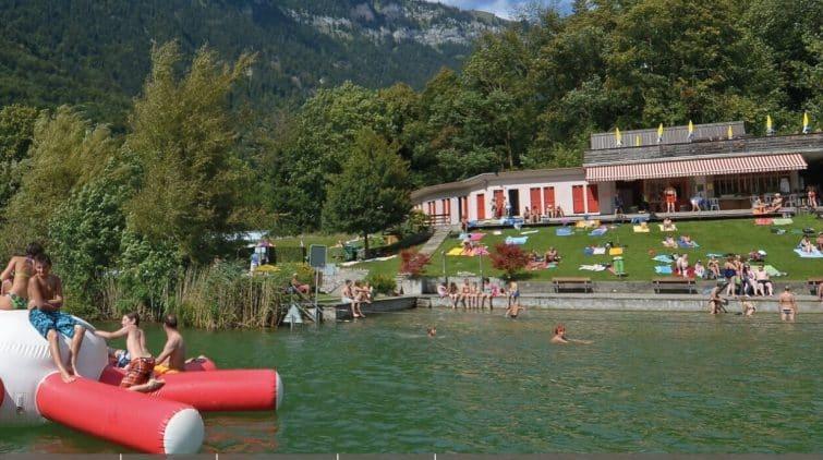 Plage naturelle de Burgseeli, Suisse