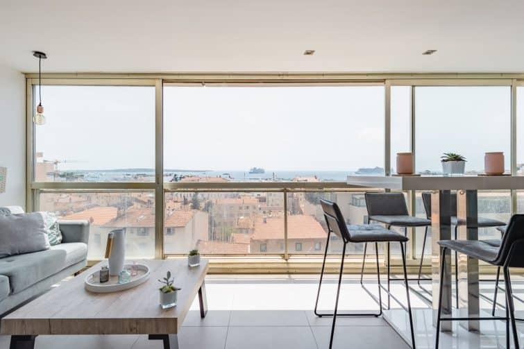 Joli appartement cannois avec vue inoubliable