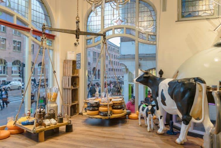 Intérieur du musée du fromage (Cheese museum), Amsterdam