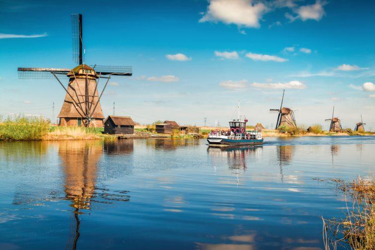 Croisière aux moulins de de Kinderdijk, Pays-Bas