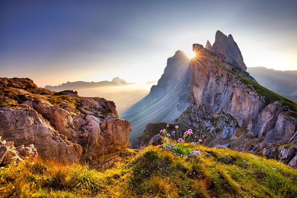 La vetta del Seceda, Dolomiti-italia-foto