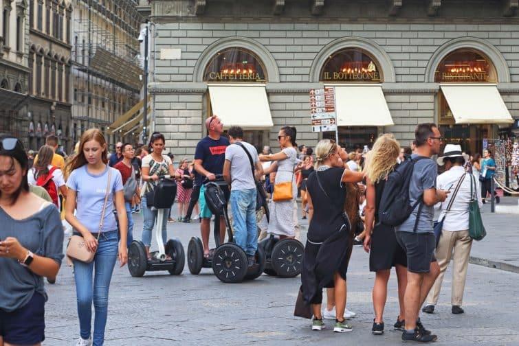 Touristes en segway, Florence