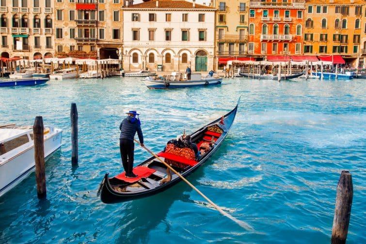 Venise en gondole