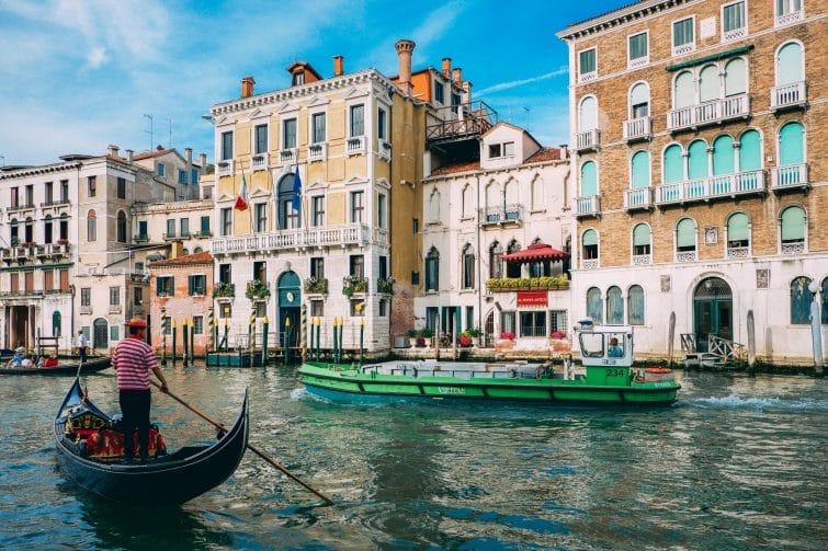 Balade en gondole à Venise