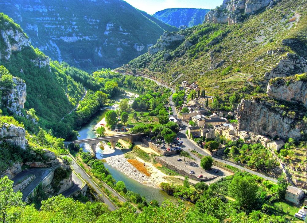 Vue aérienne des Gorges du Tarn