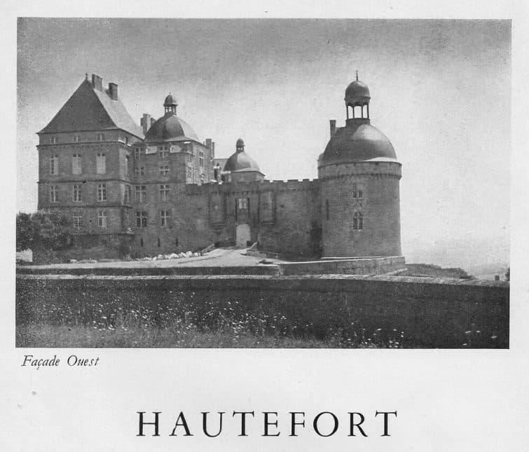Archives du château de Hautefort, face ouest