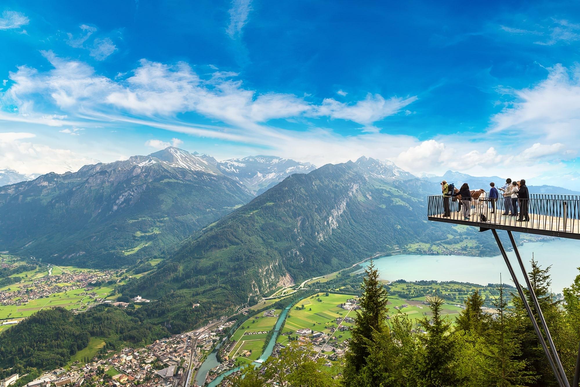 Point de vue à Interlaken