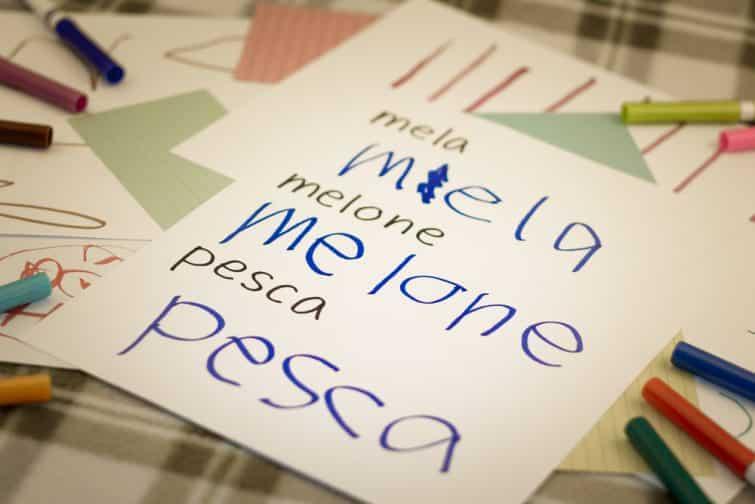 Mots pour apprendre l'italien