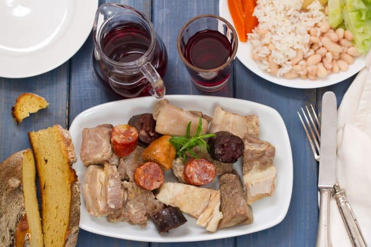 le cozido à la portuguesa et le vin rouge