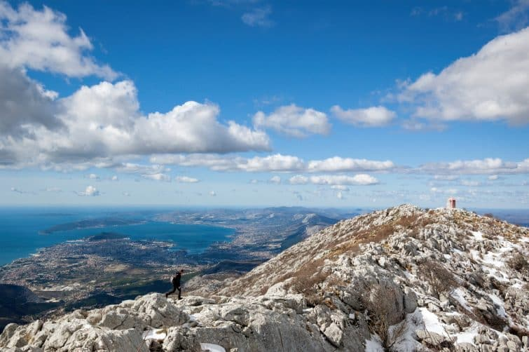 La vue exceptionnelle, au sommet du Mosor