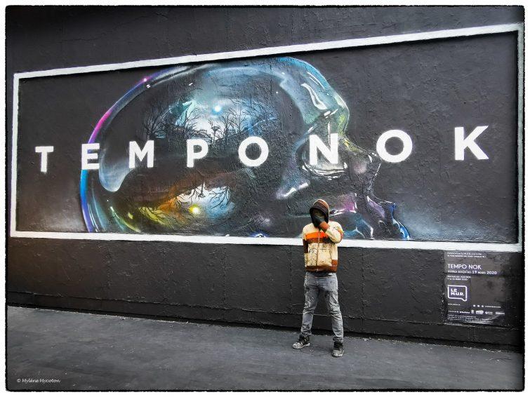Street art Temponok, Le Mur Oberkampf, Paris