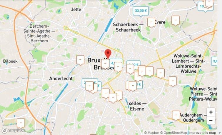 Carte OnePark Bruxelles