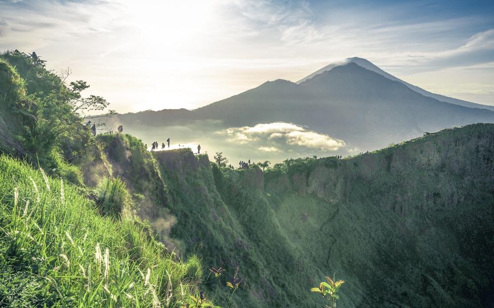 Vue sur le Mont Batur, randonnée
